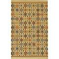 Artist's Loom Handmade Flatweave Country Oriental Wool Rug - 5'x7'6