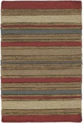Hand-woven Flat-weave Mandara Wool Rug (5' x 7'6)