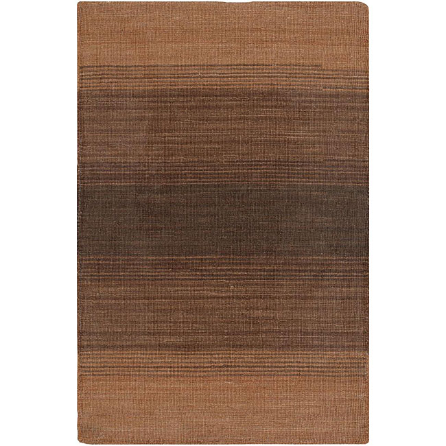 Artist's Loom Hand-woven Casual Stripes Wool Rug (7'9x10'6) - 7'9 x 10'6