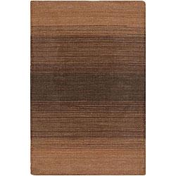 Artist's Loom Hand-woven Casual Stripes Wool Rug (7'9x10'6) - 7'9 x 10'6 - Thumbnail 0