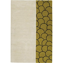 Artist's Loom Hand-tufted Contemporary Geometric Wool Rug (5'x7'6) - Thumbnail 0