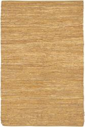Artist's Loom Handmade Flatweave Casual Reversible Natural Eco-friendly Leather Rug (3'6x5'6)