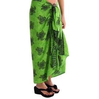 Handmade 1 World Sarongs Women's Turtles Sarong (Indonesia)