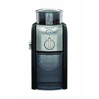 Krups GVX2-12 Black and Silver Burr Coffee Grinder