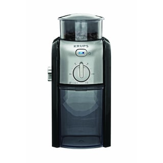 Krups GVX2-12 Black and Silver Burr Coffee Grinder