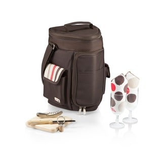Picnic Time Meritage Moka Insulated Wine and Cheese Cooler Tote for Two