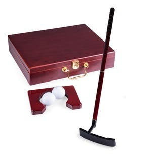 Picnic Time Ace Executive Travel Putter Set with Wood Case|https://ak1.ostkcdn.com/images/products/4871710/P12754261.jpg?impolicy=medium