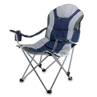 Picnic Time Navy Reclining 3-position Folding Camp Chair