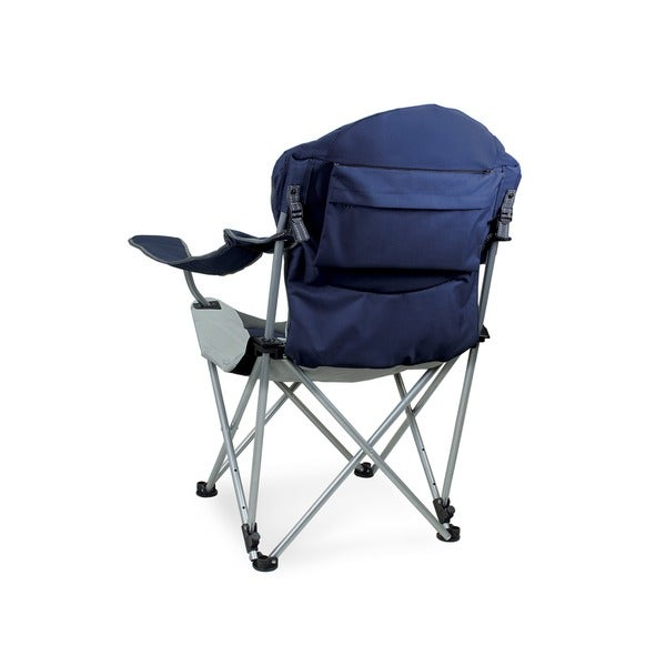 Picnic Time Navy Reclining 3 Position Folding Camp Chair   Free Shipping  Today   Overstock.com   12754310