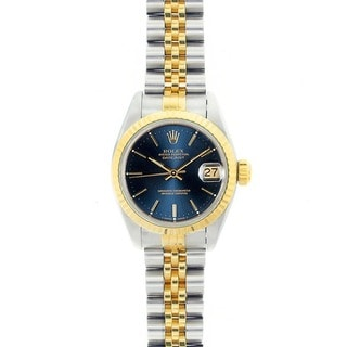 Pre-owned Rolex 69173 Women's Datejust Two-tone Gold Watch