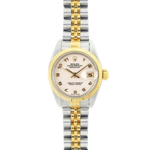 Pre-Owned Rolex 69173 Women's Datejust Two-tone Off-white Dial Watch