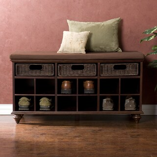 Pine Canopy Williamette Espresso Brown Shoe Bench
