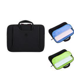 Water-repellent Black Neoprene 11.2-inch Netboook Sleeve with Zipper
