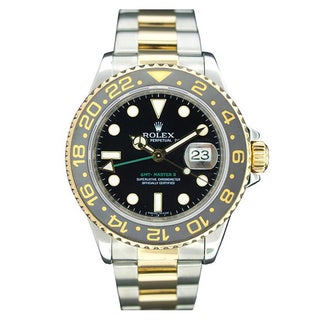Pre-owned Rolex Men's GMT Master II Ceramic Bezel Two-tone Watch