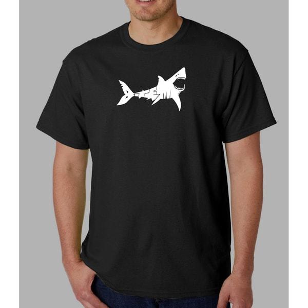Los Angeles Pop Art Men's 'Bite Me' Shark T-shirt. Opens flyout.