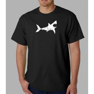 Los Angeles Pop Art Men's 'Bite Me' Shark T-shirt|https://ak1.ostkcdn.com/images/products/4875000/P12757008.jpg?impolicy=medium