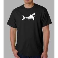 Los Angeles Pop Art Men's 'Bite Me' Shark T-shirt