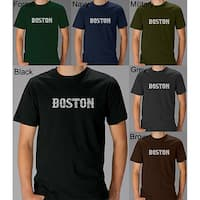 Los Angeles Pop Art Men's 'Boston' T-shirt