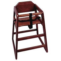 Challenger Mahogany Knockdown High Chair