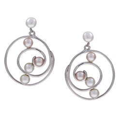 Kabella Sterling Silver Freshwater Pearl Earrings (4-5 mm)