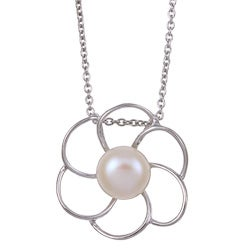 Kabella Sterling Silver Freshwater Pearl Necklace (10-10.5 mm)