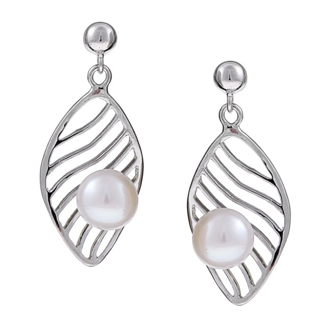Kabella Sterling Silver Freshwater Pearl Earrings (7-7.5 mm)