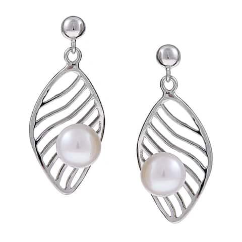 Kabella Sterling Silver Freshwater Pearl Earrings (7-7.5 mm)