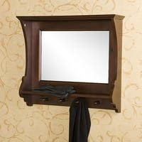 Laurel Creek Humboldt Espresso Wall Mirror