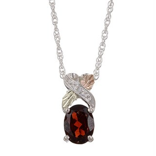 Black Hills Gold and Silver January Birthstone Necklace