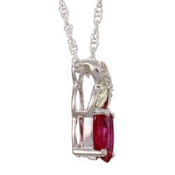 Black Hills Gold and Silver July Birthstone Necklace