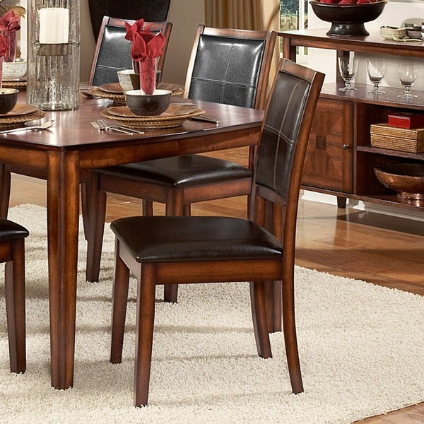 Frisco Bay Burnished Oak Dining Chair by TRIBECCA HOME (Set of 2)