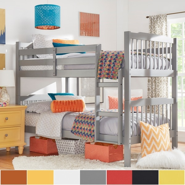Simone Twin and Twin Bunk Beds by iNSPIRE Q Junior Free Shipping