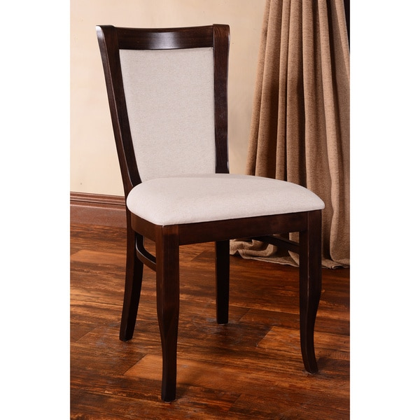 European Walnut Dining Chairs Set Of 2 Free Shipping Today