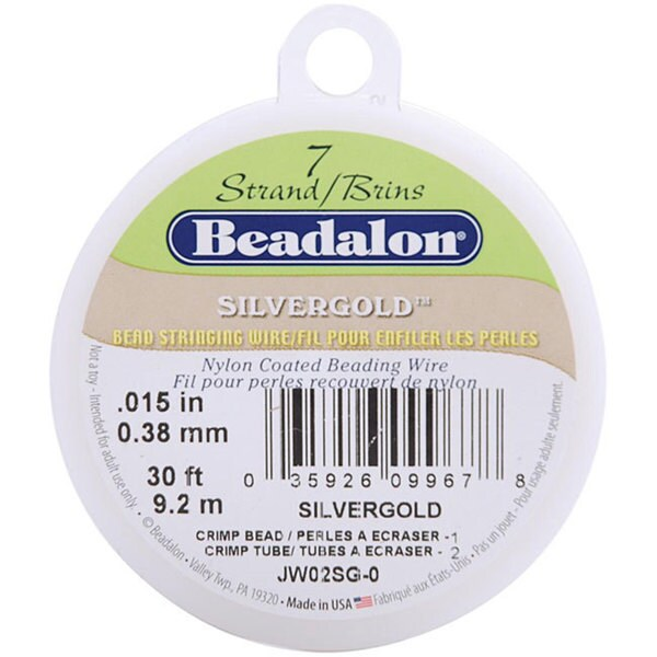Silvergold 7-strand .015 (.38mm) 30-foot Stringing Wire