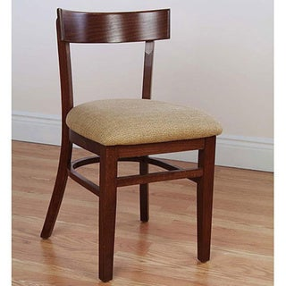 Rectangle-back Beech Wood Chairs (Set of 2)