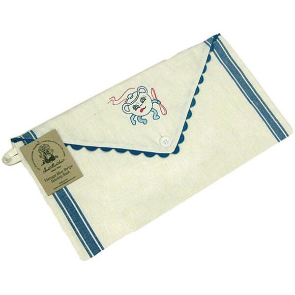 Vintage Striped Cotton Sewing Sack