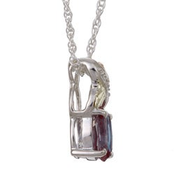 Black Hills Gold and Silver June Birthstone Necklace