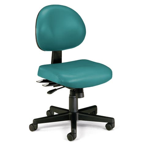 OFM 24 Hour Mid Back Ergonomic Armless Task Chair, Anti-Microbial/Anti-Bacterial Vinyl (241-VAM)