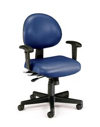 OFM 24-hour Antimicrobial Vinyl Task Chair with Arms - Thumbnail 1