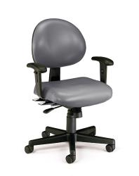 OFM 24-hour Antimicrobial Vinyl Task Chair with Arms - Thumbnail 2