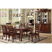 Furniture of America Alistair Rectangular Table 7-piece Dining Set