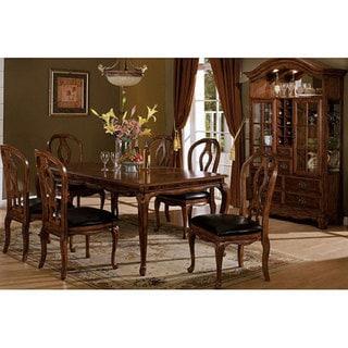 Furniture of America Monreau 7-piece Antique Oak Dining Set with Removable Leaf