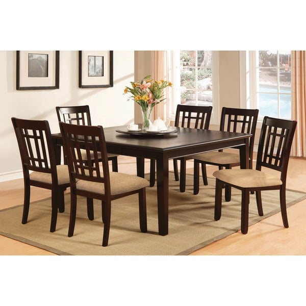 Kitchen Dining Room Sets Furniture Of America Valitie 7 Piece Rectangular Table Dinette Set
