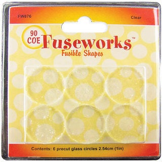 Fusible Clear Glass Shapes 90COE Clear Rounds (Pack of 6)