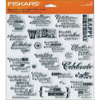 Fiskars Make A Wish 8x8-inch Quote Clear Stamp Sheet