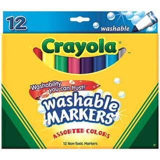 Crayola Broad Line Assorted Color Washable Markers (Pack of 12)|https://ak1.ostkcdn.com/images/products/4892765/P12786139.jpg?impolicy=medium