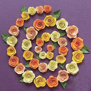 Spiral Rose Orange/ Peach/ Yellow/ Pale Yellow Quilling Kit