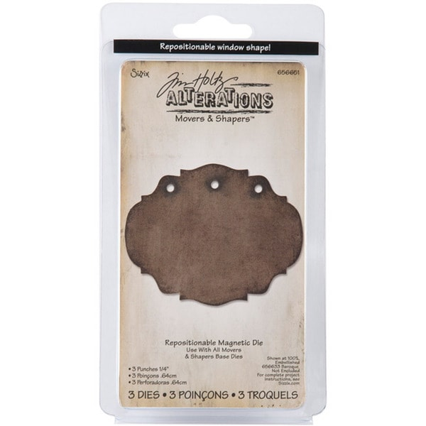 Sizzix Movers & Shapers Magnetic 3-hole Punch Die