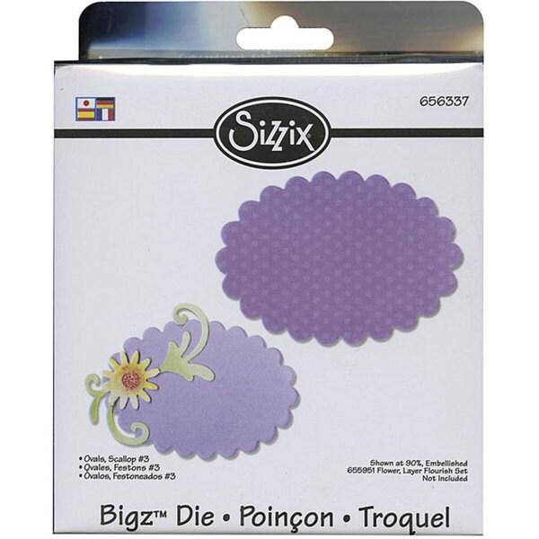 Sizzix Bigz BIGkick/ Big Shot 'Scallop Ovals 3' Die