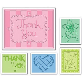 Sizzix Textured Impressions 'Thank You 3' Embossing Folders (Pack of 5)